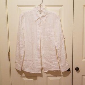 Button Down White Linen Shirt | L.L.Bean